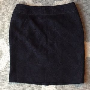 Ann Taylor Skirts - Ann Taylor embroidered purple & black mini skirt